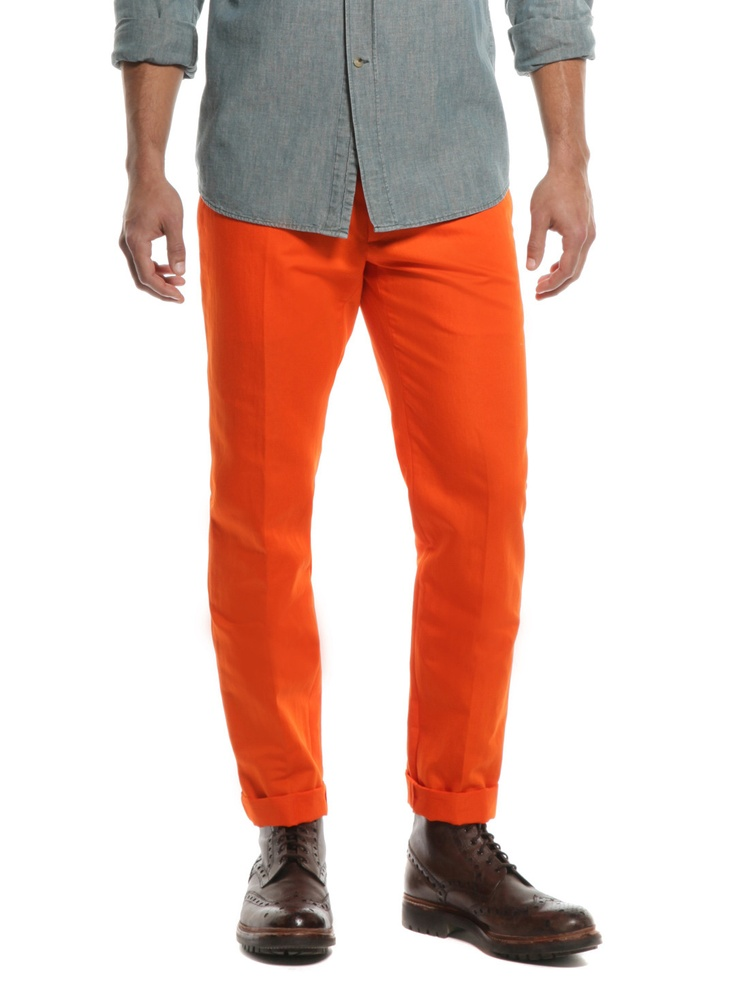 WOW! Only $565.00 for Neon orange pants? Sign me up.: Men Appearl, Neon Trousers, Jacobs Neon, Color Confident, Neon Orange, Style Ideas