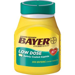 Bayer Low Dose 81mg Aspirin Regimen, 300 ct