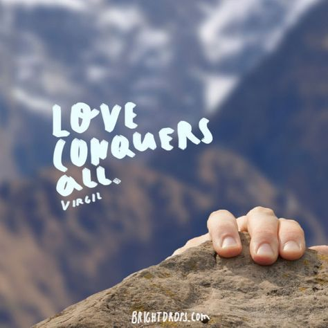 """Love conquers all."" ~ Virgil"