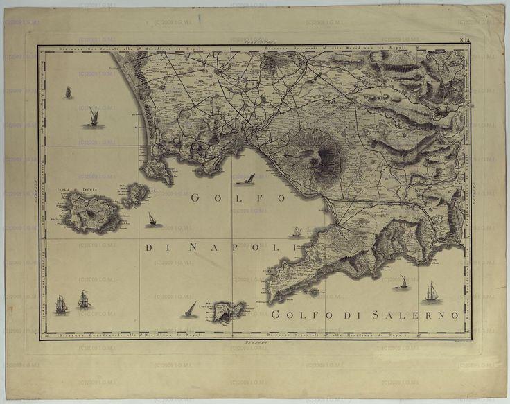 ATLANTE GEOGRAFICO DEL REGNO DI NAPOLI DELINEATO PER ORDINE DI FERDINANDO IV RE DELLE DUE SICILE E C. E C. DA GIO' ANTONIO RIZZI ZANNONI GEOGRAFO DI SUA MAESTA' E TERMINATO NEL 1808. QUADRO D'UNIONE. - Golfo di Napoli 1808