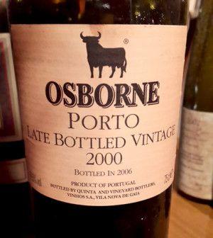 ★★ Porto Late Bottled Vintage 2000 – Bottled in 2006 – Osborne