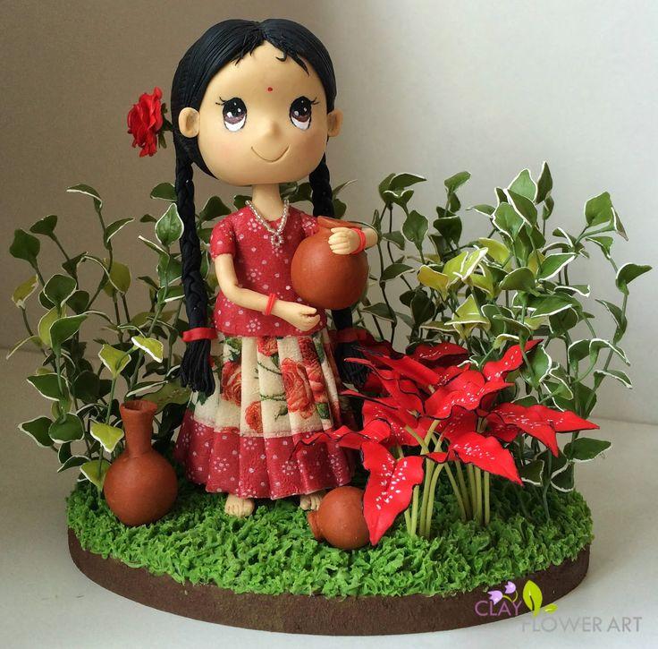 Air-dry   Clay Flower Art