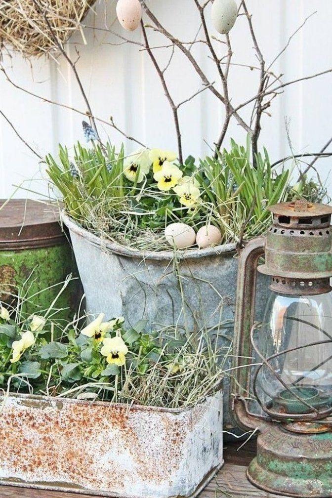 Garten Dekorieren Zu Ostern Und Fr Hlich Festliche Stimmung Verbreiten 50 Osterdeko Ideen F R Den Garten Homedecor In 2020 Easter Garden Spring Garden Spring Home