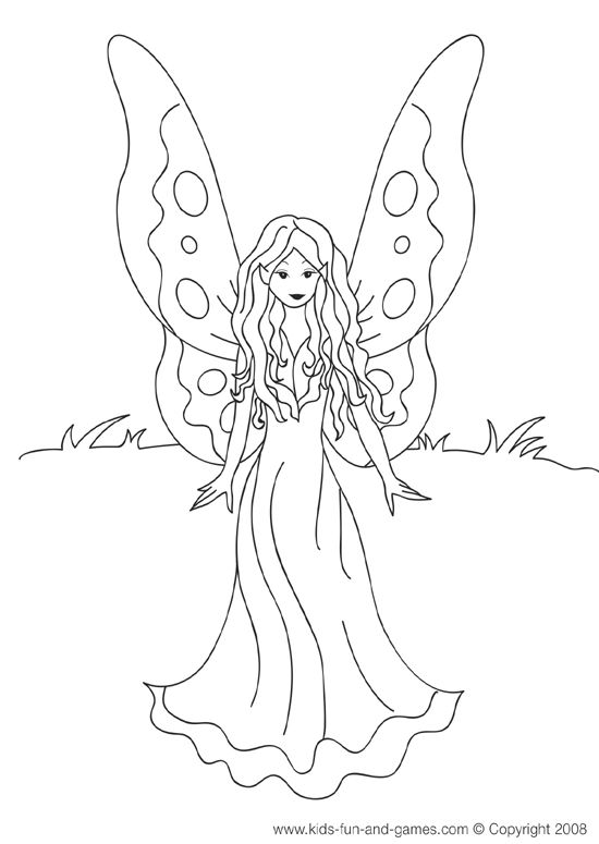 fairies and pixies coloring pages - photo#41