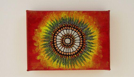 Mandala painting, mandala canvas, mandala wall art, small canvas art, small artwork, mini canvas painting, mini canvas art, canvas art, zen