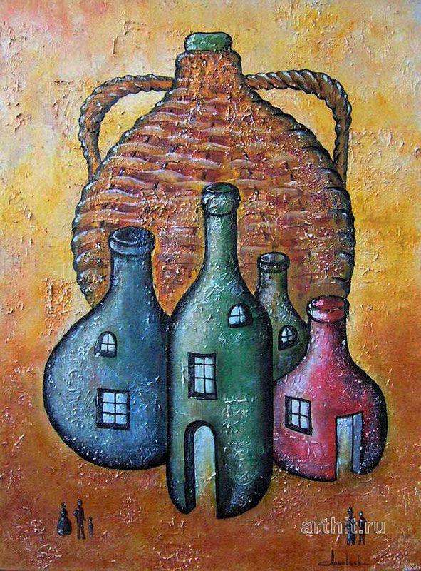 'A jug and four bottles'. Lomovtzev Konstantin