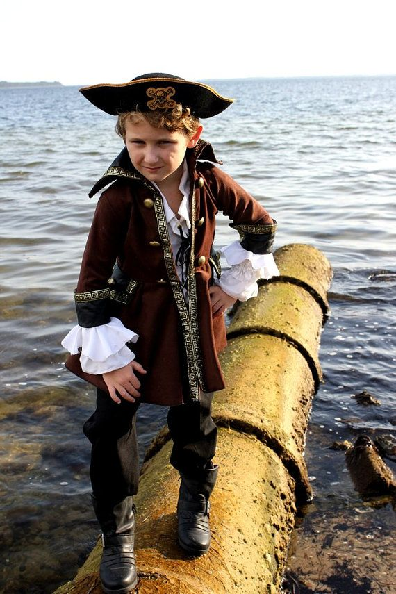 Authentic Childs Pirate Jacket, Coat, Frock on Etsy, $69.00