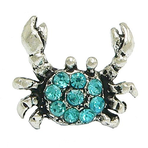 Blue Crystal Crab Charm for Pandora Braclets - by Olympia Beads & Charms - Compatible for Pandora, Troll, Biagi, Chamilia Bracelets & Necklaces Olympia, http://www.amazon.com/dp/B00805HMQ2/ref=cm_sw_r_pi_dp_dhGXqb0R2REQP