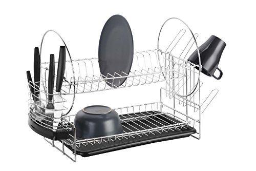 VonShef 2 Tier Stainless Steel Dish Drainer with Drip Tray VonShef http://www.amazon.co.uk/dp/B00NPYNIRU/ref=cm_sw_r_pi_dp_LsI-ub0FP55JM