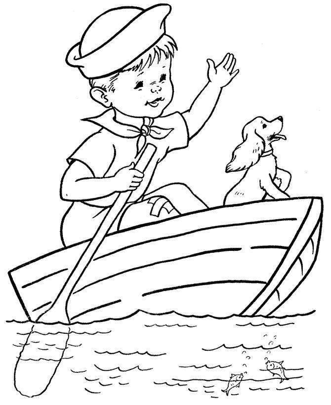 Dibujos de barcos para colorear  Dibujos para colorear  Pinterest