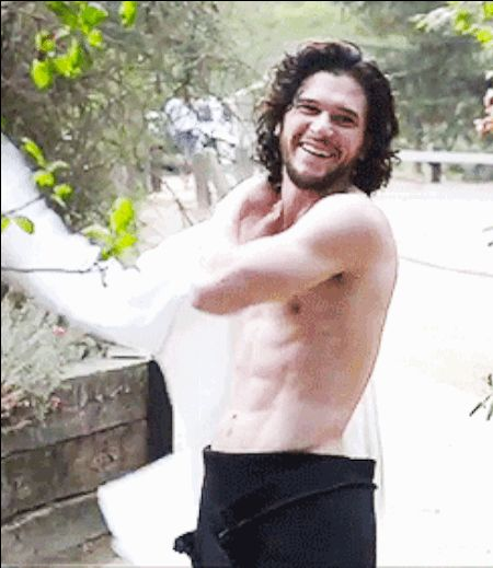Kit Harington being mostly shirtless. | Can You Make It Through This Post Without Your Ovaries Exploding?