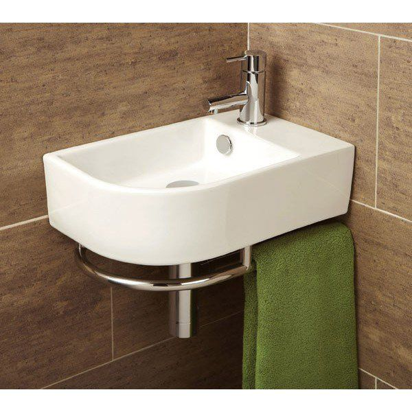 HiB Temoli Corner Basin with Towel Rail