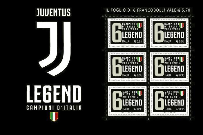 Nuovo logo Juve su francobollo scudetto... ma......