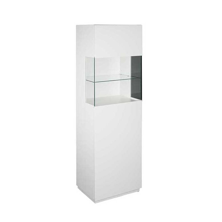 Use the Shaw Display Cabinet in White to show off your most prized possessions and accomplishments! This sleek, modern display cabinet features an all-white matte lacquer finish over MDF, and a 5 mm tempered glass display shelf! Use the soft closing...