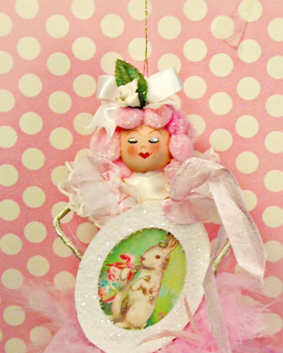 Darling Easter Ornament!    http://www.etsy.com/listing/92727071/easter-doll-ornament