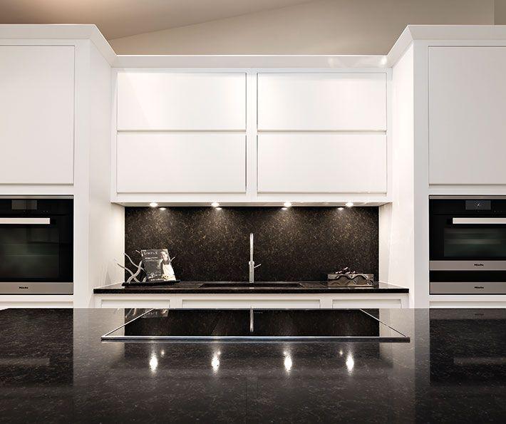 Modern U Shaped Kitchen With Handleless Cabinetry: Stylish Handleless Kitchen - Tom Howley