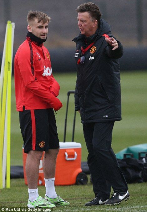Luke Shaw, pictured with Louis van Gaal, have returned to first team training