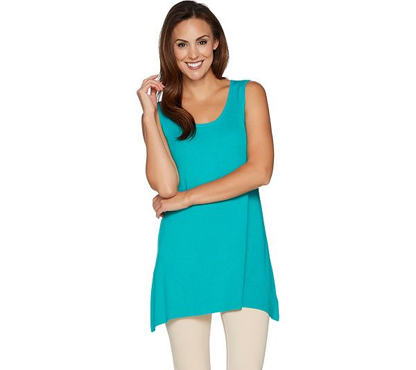 Make room in your closet for this roomy swing tank; the Whisper knit fabric will have you dancing on air. From Linea by Louis Dell'Olio. Page 1 QVC.com
