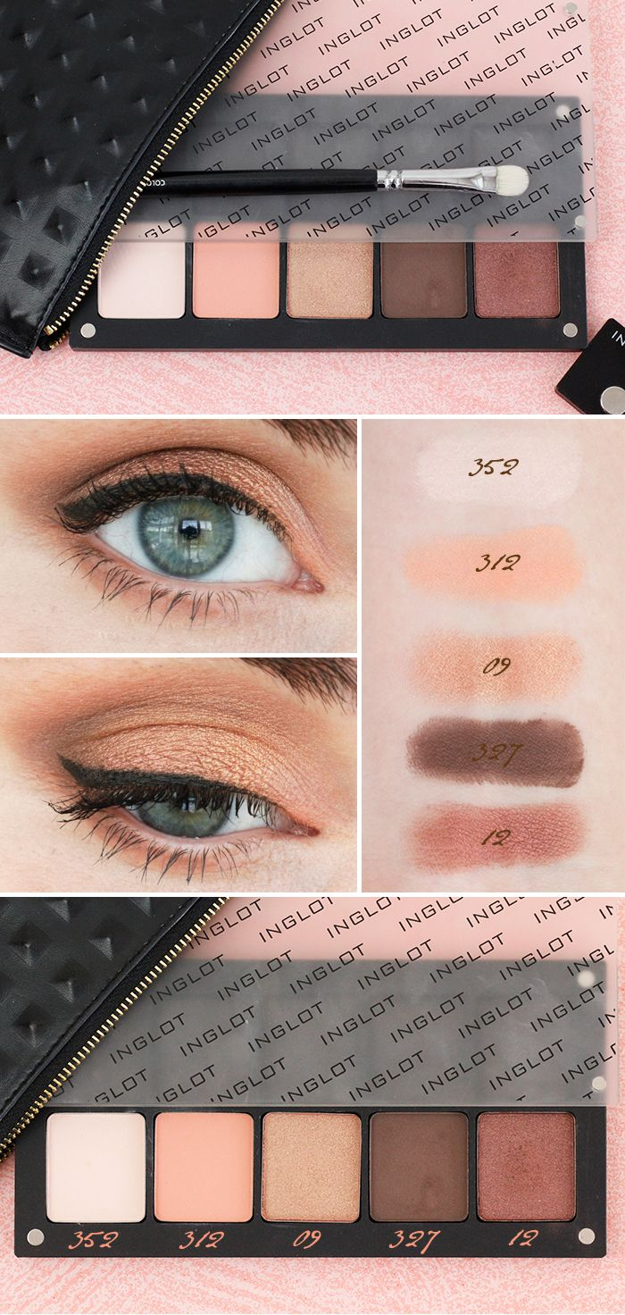 Inglot Eyeshadow Review, Swatches and Eye Makeup #Inglot #Eyeshadow #WarmEyeshadow