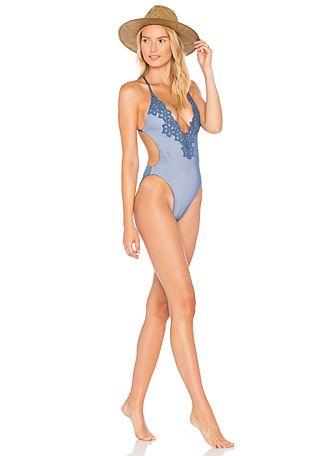 Blue Life Capri One Piece Swimsuit in Marine | REVOLVE