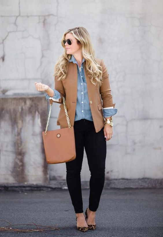 15 ideas to style a chambray shirt outfit