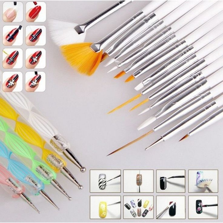 Best 25 nail art brushes ideas on pinterest striped nail art 20 pcs nail art brushes set prinsesfo Gallery