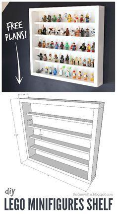 How to build a lego minifigurine shelf with free plans for How to build a display shelf