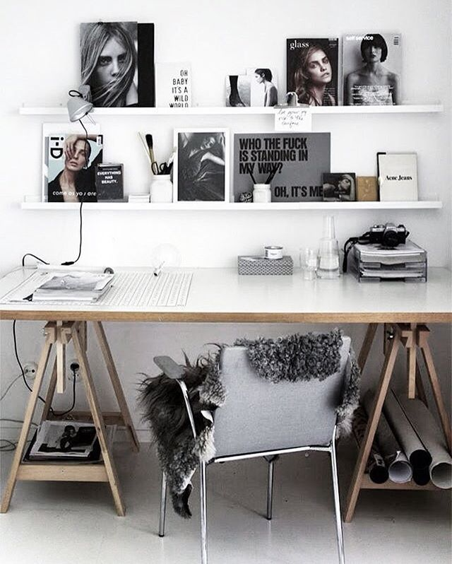 Dreamy workspace  via @pellahedeby  #inspiration #interior #interiordesign #home #homedecor #homedesign #decor #decoration #scandinaviandesign #desk #workspace #homeoffice #instahome