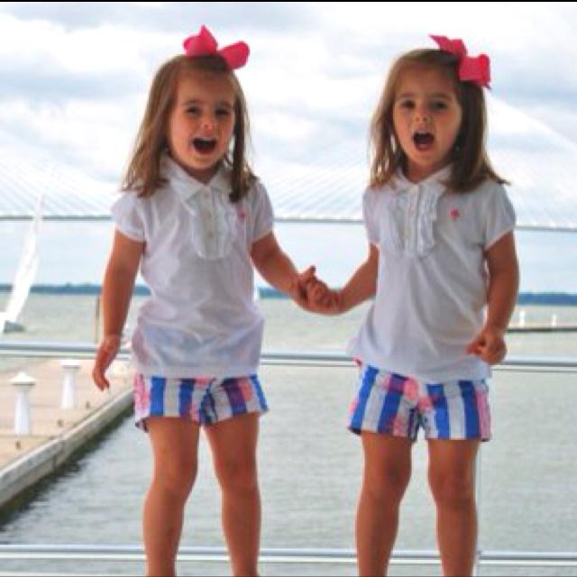 twin girls-on the beach in Michigan?!
