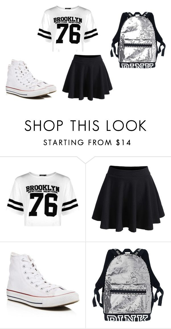 """SWAG"" by lc112439 on Polyvore featuring Boohoo, WithChic and Converse"