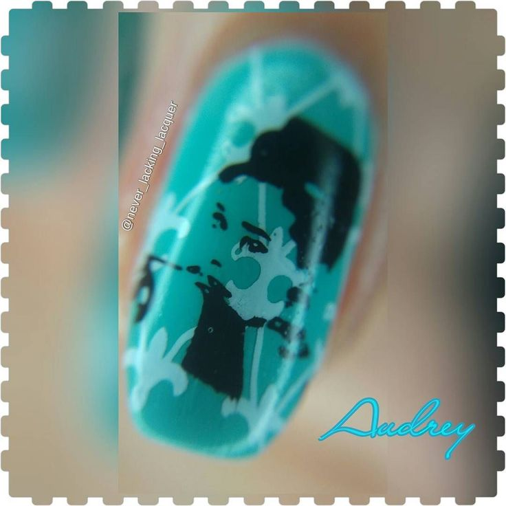 Hello loves!! Here is a closer look!!! Here's my first review of my products from http://ift.tt/1MS2SdY  This is using Item NA0864 Stamping Plate JQL-12 which features 11 full nail size lovely patterns as well as 3 images of Audrey Hepburn and 1 of Marilyn Monroe and other smaller images such as a padlock and key and the words Paris and I love you. If you wish to purchase this or any other item from @ladyqueenbeauty they have given me a code for 15% off for my followers which is SWWS15  I…