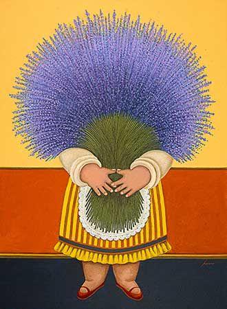 "Lowell Herrero (American, born 1921) ~ ""Lavender Lady"""