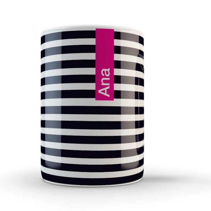 Taza con tu nombre y el color que elijas. Que nadie se confunda, ¡esta taza es mia!