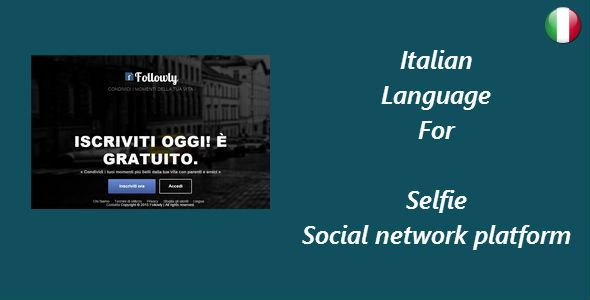 Italian Language for Selfie – Social network platform.If you dont have Selfie – Social...