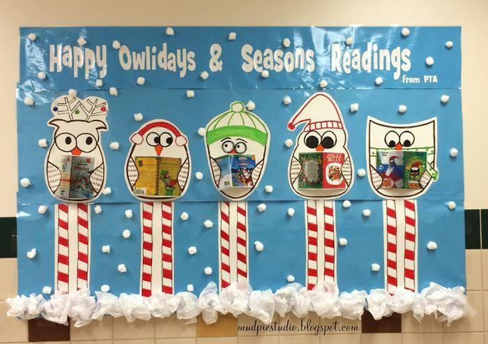 Happy 'Owlidays' & Seasons Readings! - Holiday Bulletin Board