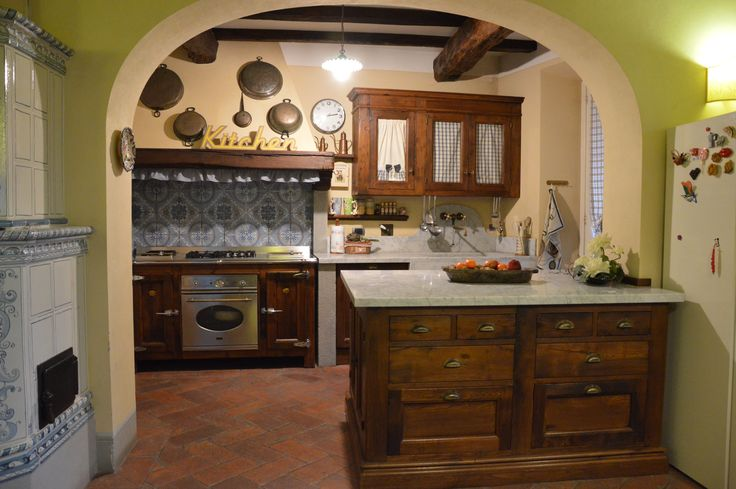 falegnameria bensi-- cucina su misura legno antico