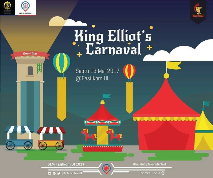 To whom it may concern  King Elliot requests the honor of your presence at the Royal Carnival on Saturday 13th May 2016 at the Kingdom of Faculty of Computer Science Universitas Indonesia.  As part of an annual event that the kingdom shall hold annually which purpose is to bring together the citizens of Fasilkom UI and all its elements therein this event will be celebrated by the appearance of the honorable Eclat.  In this moment of joy the King will open playground booths where winners…
