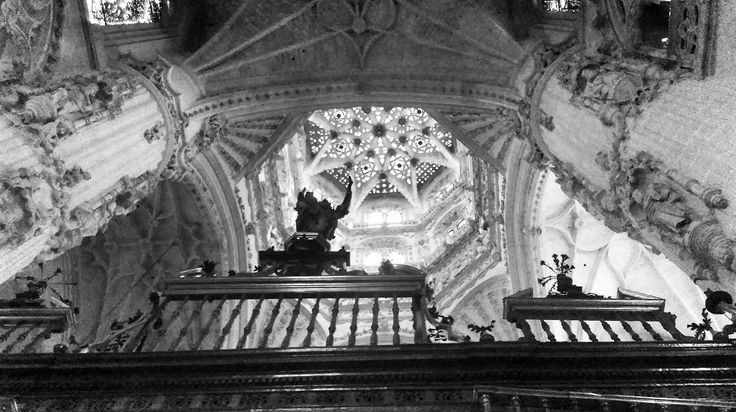 Last one from my Spanish travels I promise.  How beautiful is this ceiling. #burgos  #ihaveathingwithceilings   #blackandwhite  #lookup  by dublinisblackandwhite