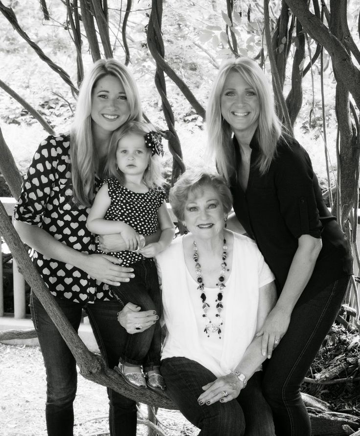 Simply Relevant Life: 4 generation photo ideas; black and white outfit coordination