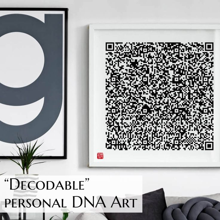 """This collection """"QR Code"""" was influenced by QR barcodes, a testament to our insatiable appetite for #knowledge and #data. It's a cipher of your exceptional existence that sets you apart from every other person in the world. #Follow for a chance to win your own #custom #DNA #art #genoartdna #qrcode #artforsale #apartmenttherapy #contemporaryart #homedecor #fineartprints #interiordesign #interiordecor #interiorstyling #interiorstyle #loveart #officedecor #art #artgallery #artwork"""