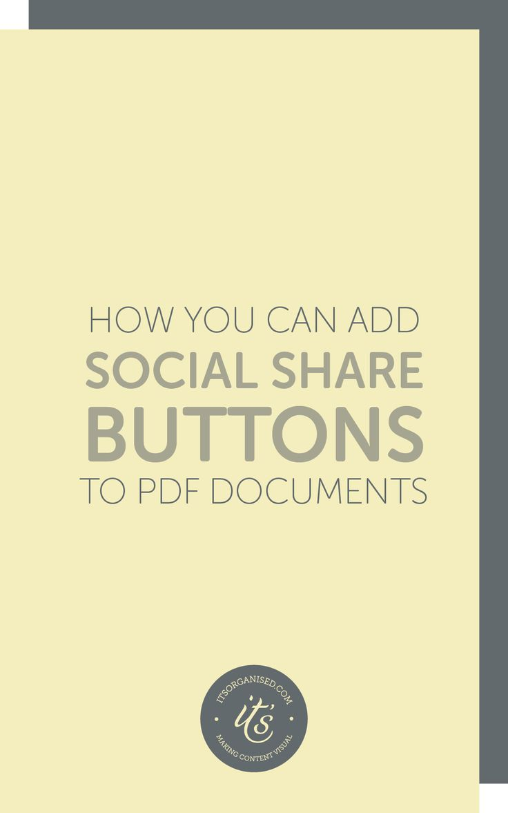 How to add social share buttons to pdfs using adobe acrobat pro