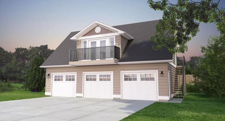 1000 images about garage plans on pinterest for 3 car garage with loft