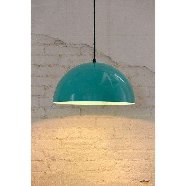 Iris Dome Large Pendant Light (145 AUD) ❤ liked on Polyvore featuring home, lighting, ceiling lights, turquoise, iris lighting, turquoise lamp and turquoise pendant light