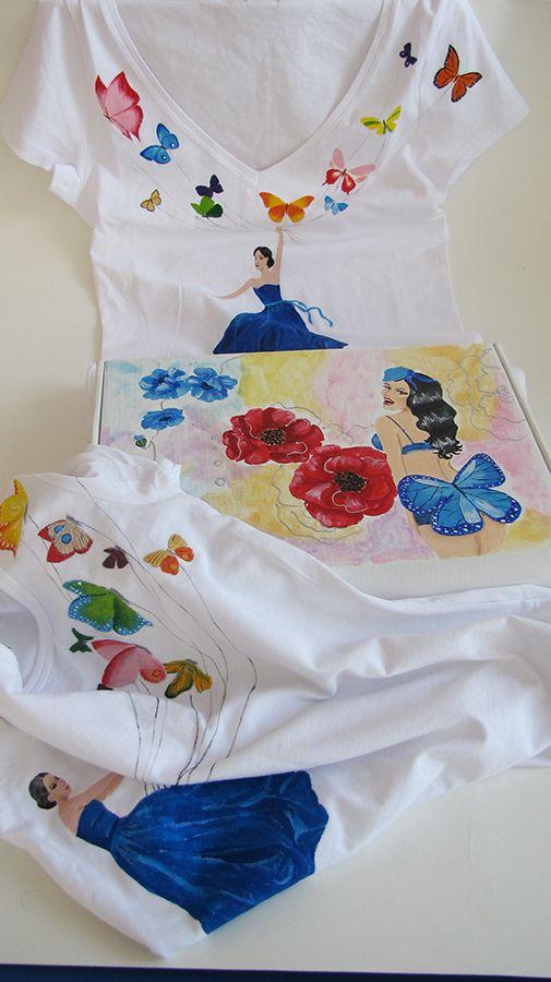 painted tshirts and carton box