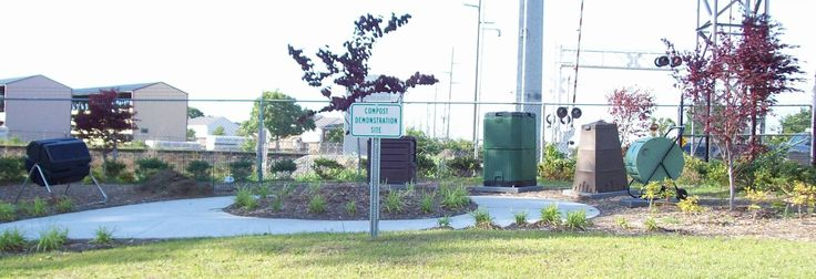 Composting education bins at City of Greenville, NC  Public Works
