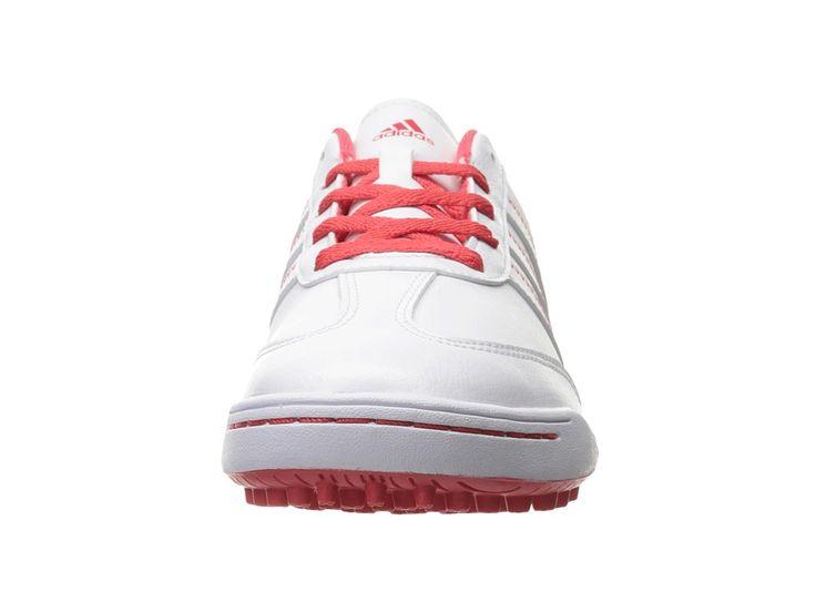 adidas Golf Jr. Adicross V (Little Kid/Big Kid) Men's Golf Shoes Ftwr White/Ftwr White/Core Pink