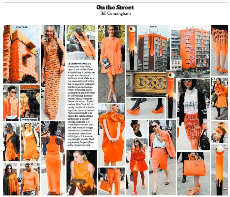 Bill Cunningham covers Le Grand Orange in NYC streets