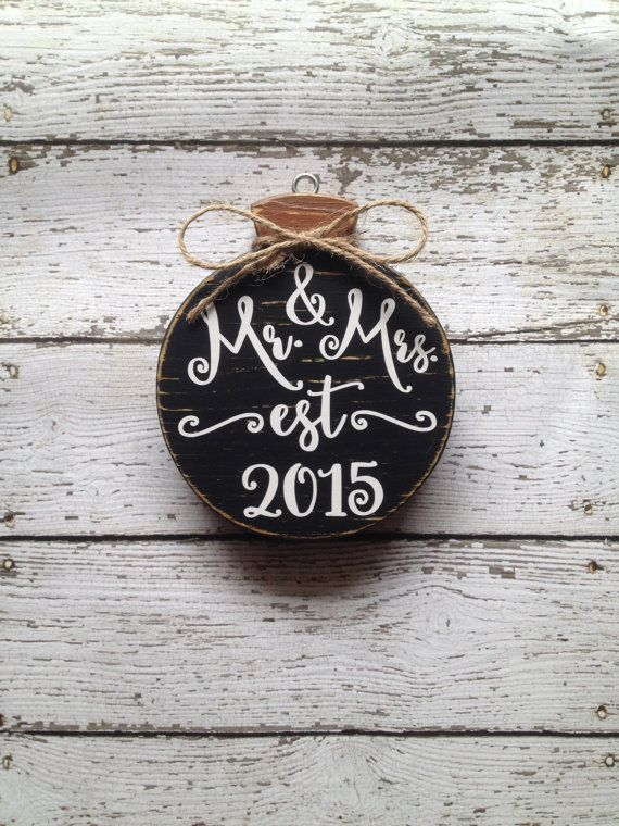 Mr and Mrs Ornament  Our First Christmas by CelebrateOrnaments