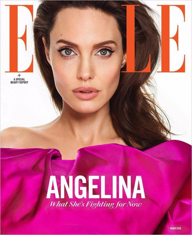 666 best fashion magazines celebs images on pinterest magazine nina garcias first issue of elle magazine starring angelina jolie fandeluxe
