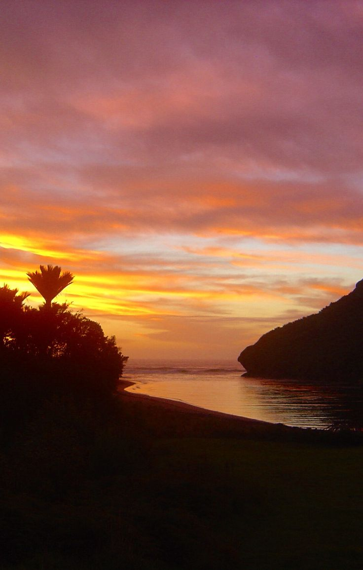 Sunset, Heaphy River Mouth, Heaphy Track, Westland, New Zealand